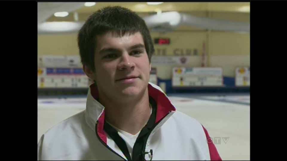 WLU curler Aaron Squires will compete at the Canadian Junior Men's Championships in Fort McMurray, Alberta beginning February 2, 2013.