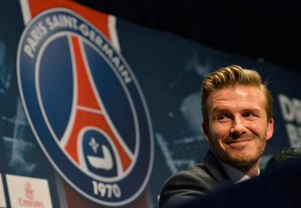 David Beckham at Paris press conference