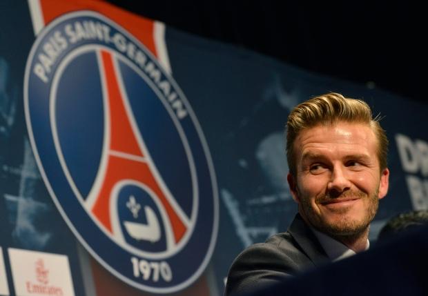 David Beckham at Paris press conference