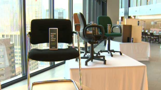 Cenovus Energy gave away hundreds of pieces of office furniture to Calgary non-profit groups.