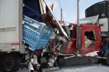 Massive 50-vehicle pile-up near woodstock