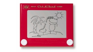 The classic toy Etch A Sketch was invented by Andre Cassagnes in 1960. (Ohio Art)