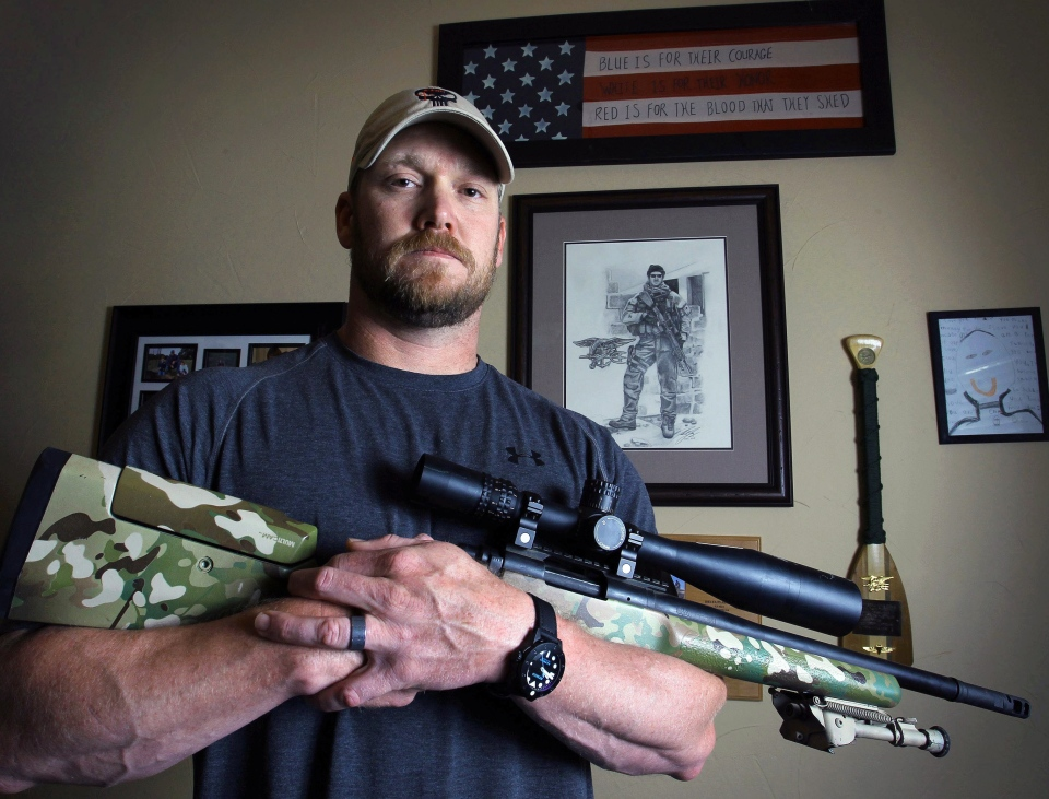 "Chris Kyle, a former U.S. Navy SEAL and author of the book ""American Sniper"" poses in Midlothian, Texas, April 6, 2012. (The Fort Worth Star-Telegram, Paul Moseley)"