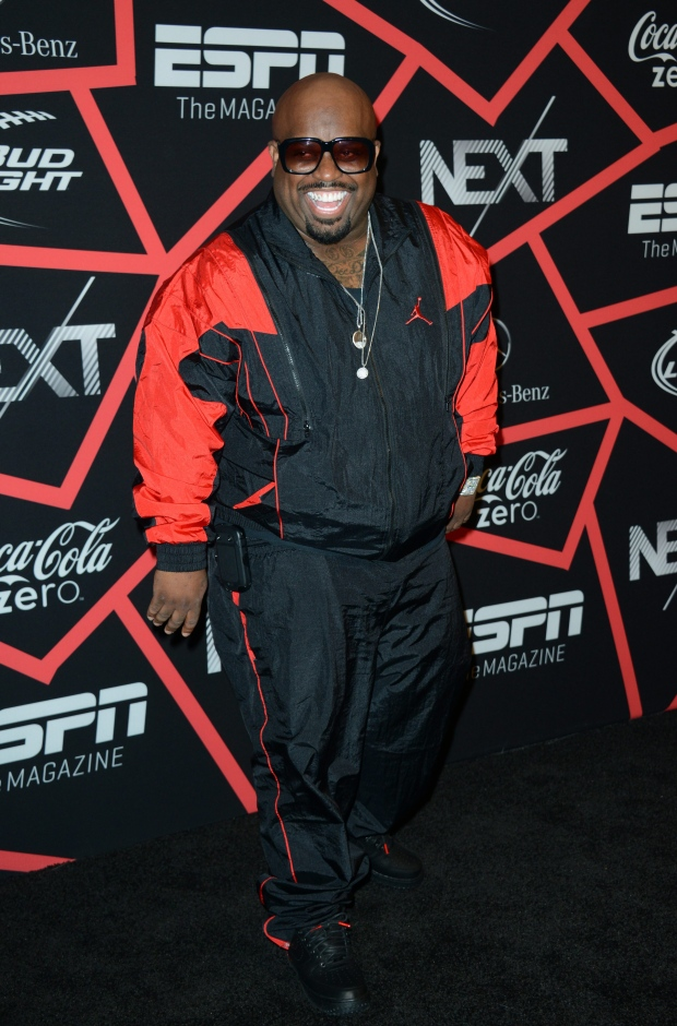 CeeLo Green performs at Super Bowl party