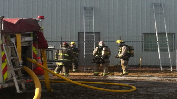 Fire crews monitoring fire at bronze foundry