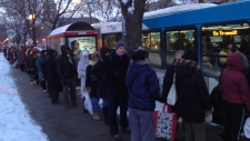 Bus lineup(CTV Montreal/Jean-Luc Boulch)