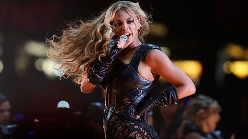 Beyonce performs during the halftime show of the NFL Super Bowl XLVII football game between the San Francisco 49ers and the Baltimore Ravens in New Orleans, Sunday, Feb. 3, 2013. (AP / Matt Slocum)