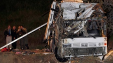 Tour bus crash California