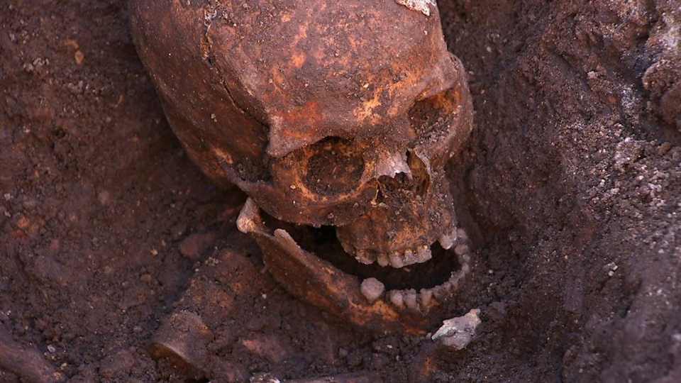 The remains found underneath a car park last September at the Grey Friars excavation in Leicester were declared 'beyond reasonable doubt' to be the long lost remains of England's King Richard III, missing for 500 years. (University of Leicester)