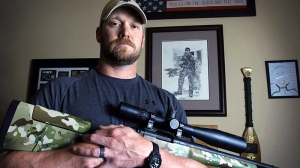 Former Navy SEAL and author of the book 'American Sniper,' Chris Kyle poses in Midlothian, Texas on April 6, 2012. (Paul Moseley / The Fort Worth Star-Telegram)