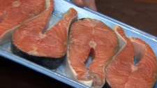 A CTV News hidden-camera investigation revealed a Coquitlam Real Canadian Superstore employee re-wrapping fish with a new best-before date. Jan. 5, 2011. (CTV)