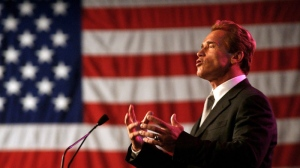 In this file photo taken Nov. 17, 2003, Gov. Arnold Schwarzenegger gestures while speaking before the California Chamber of Commerce reception held in his honor following his inauguration in Sacramento, Calif. (AP Photo/Rich Pedroncelli, File)
