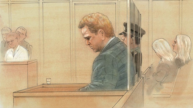 Richard Kachkar is seen in this courtroom sketch. (John Mantha)