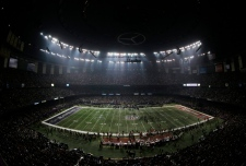 Superdome during the outage, Feb. 3, 2014.