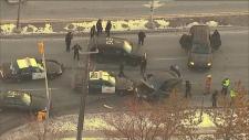 Brampton police chase crash