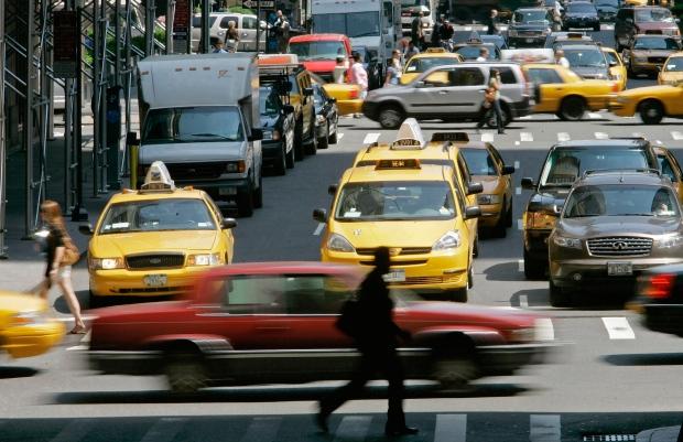 Traffic on New York's Park Avenue, June 7, 2007.