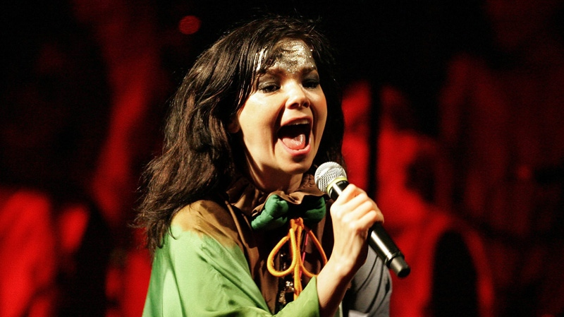 Icelandic singer Bjrk performs during a concert at the National Museum in Lima, Tuesday, Nov. 13, 2007. (AP Photo / Martin Mejia)