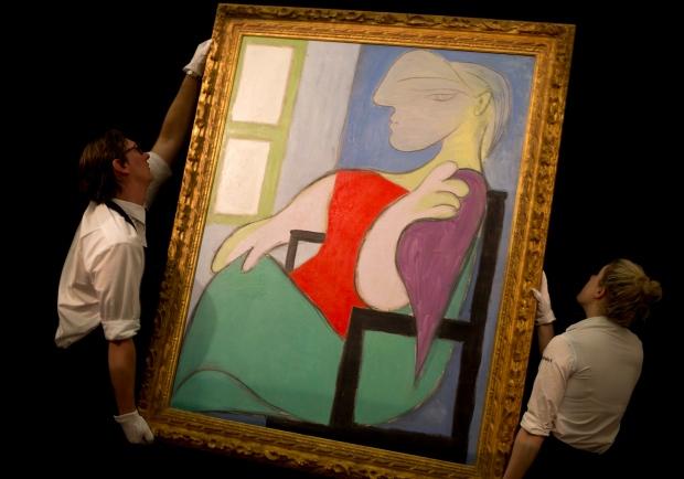 Pablo Picasso' Femme assise pres d'une fenetre