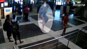 This image from security video shows the unidentified bomber at Burgas airport in Bulgaria.