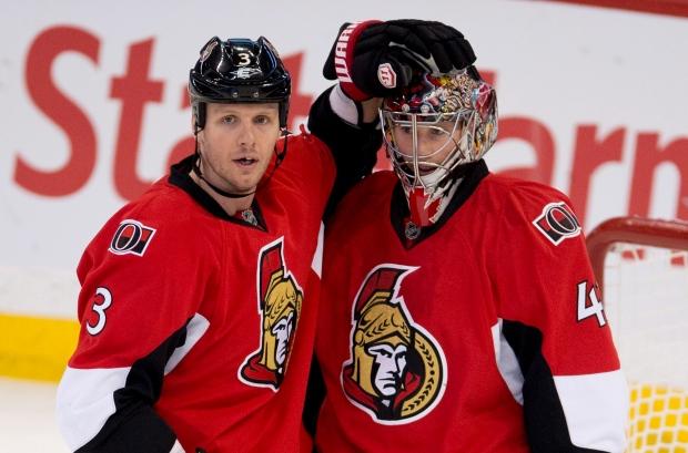 Ottawa Senators defenseman Marc Methot