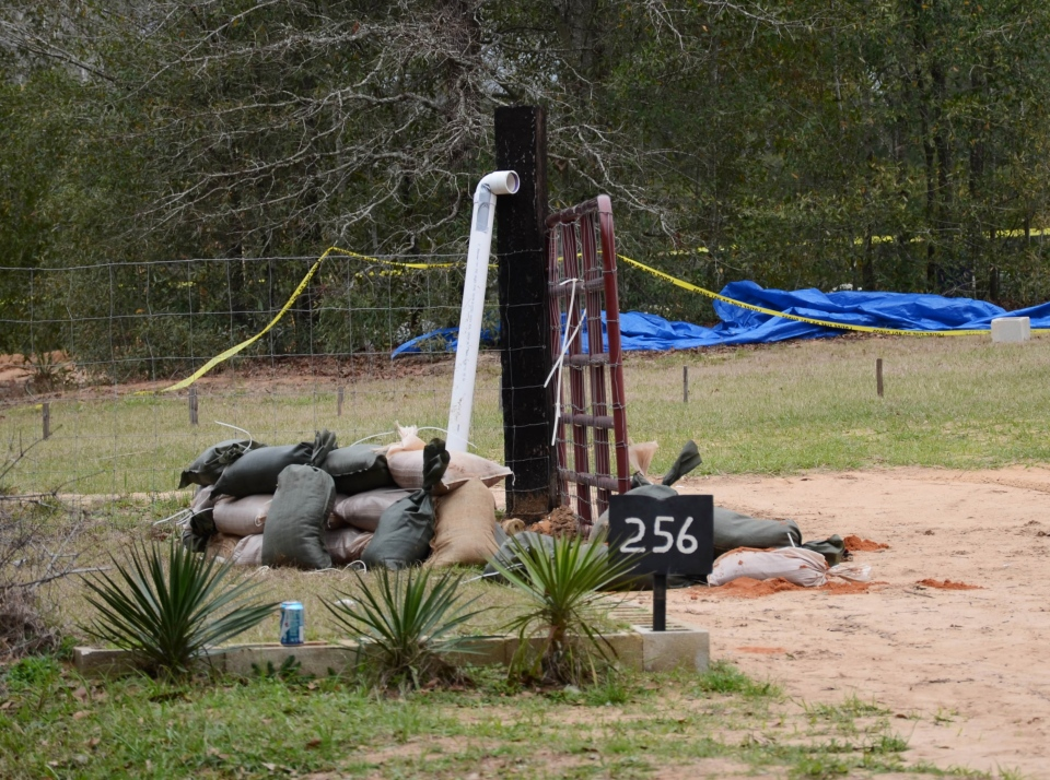 This undated photo released by the FBI on Tuesday, Feb. 5, 2013, shows the pipe FBI agents and Dale County negotiators used to communicate with Jimmy Lee Dykes while he held a 5-year-old boy hostage in a bunker on his Midland City, Ala. property for a week. (AP / FBI)