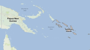 Solomon Islands are seen in this image from Google