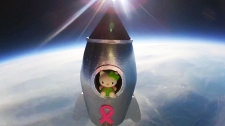 Girl sends Hello Kitty into space