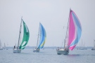 Boats sail on Lake Huron on Saturday, July 14, 2012. (AP Photo/The Times Herald, Mark R. Rummel)