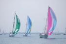 Boats sail on Lake Huron on Saturday, July 14, 2012. (AP Photo/The Times Herald, Mark R. Rummel)