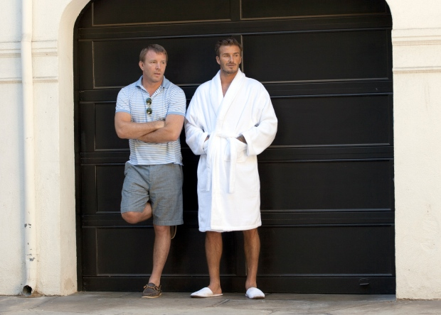 David Beckham and Guy Ritchie in October, 2012.
