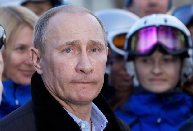 Putin at the Rosa Khutor Alpine Centre.