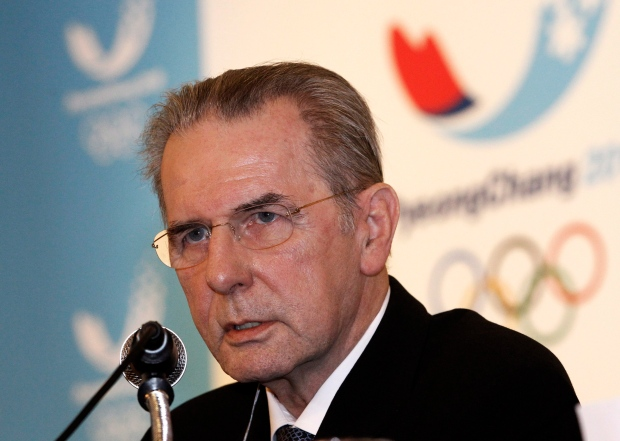 Jacques Rogge on Feb. 1, 2013.