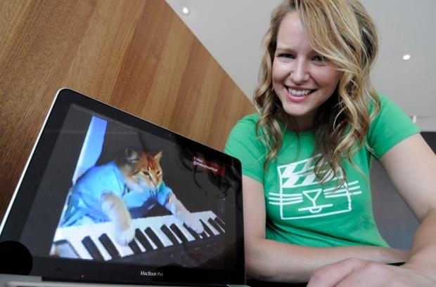 Katie Walker and an Internet cat video.