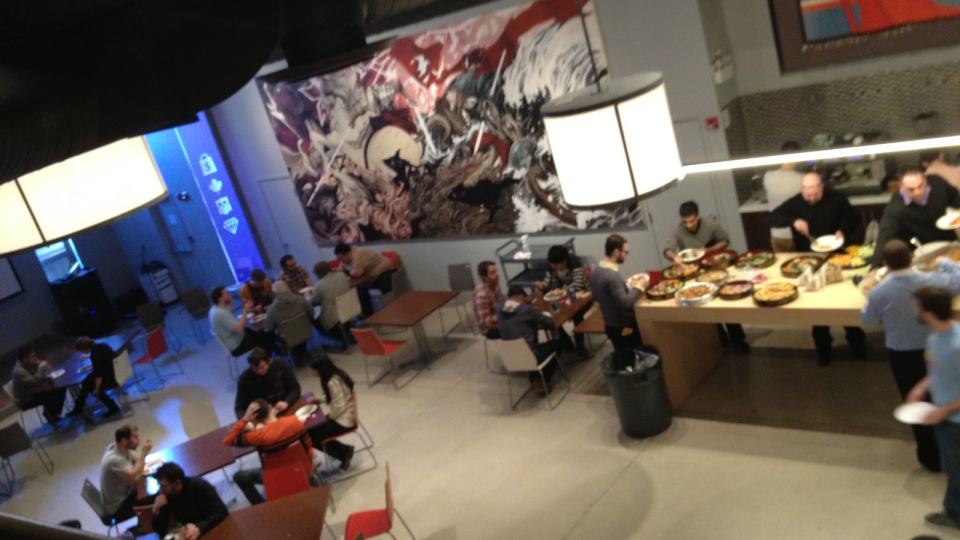 It's a full house in the lunchroom of Ottawa's Shopify headquarters.The e-commerce company is looking to hire 110 more employees in 2013.