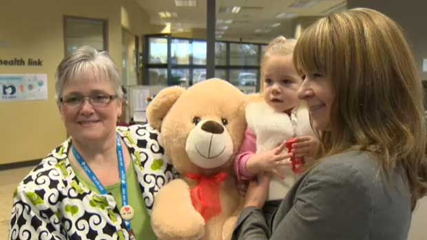 Betty and Georgia met with Pam at the Health Link Call Centre.
