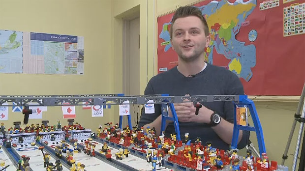 Canso Academy teacher David MacDonald says he dreamed of creating a curling rink made of Lego for years.