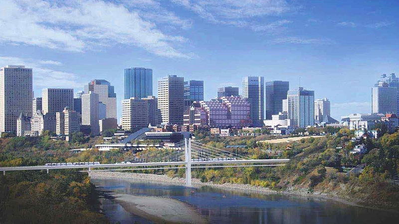 The preferred design for a new bridge, that would span the North Saskatchewan River for the southeast leg of the LRT, is expected to go before City Council on Feb. 20. Supplied.