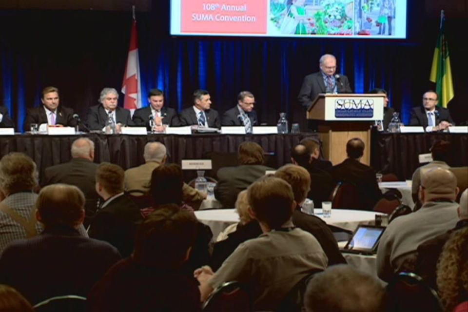 The SUMA convention wrapped up with a bear pit where municipal leaders were able to ask the provincial cabinet questions.