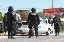 Police checkpoint in Acapulco, Feb. 5, 2013.
