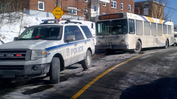 Halifax police are looking for a possible shooter after shots were reportedly fired inside a Metro Transit bus in Dartmouth