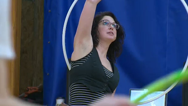 Hula hooping culture is growing in Edmonton. Carla Snow quit her job as an accountant to become a full-time hula hooper. She makes her own hula hoops and teaches workshops and hula hooping classes.