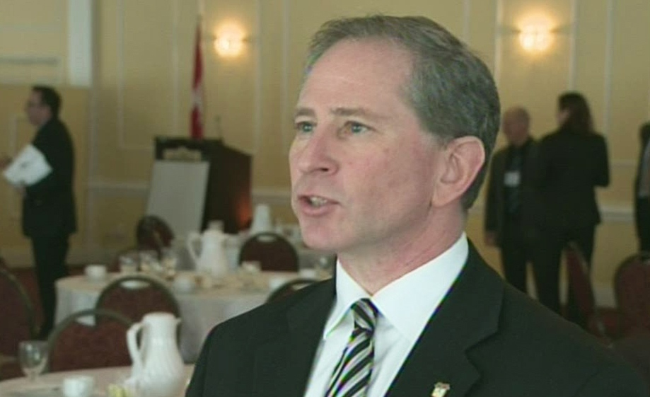 Woolwich Township Mayor Todd Cowan is seen in Kitchener, Ont., on Thursday, Feb. 7, 2013. (CTV Kitchener)