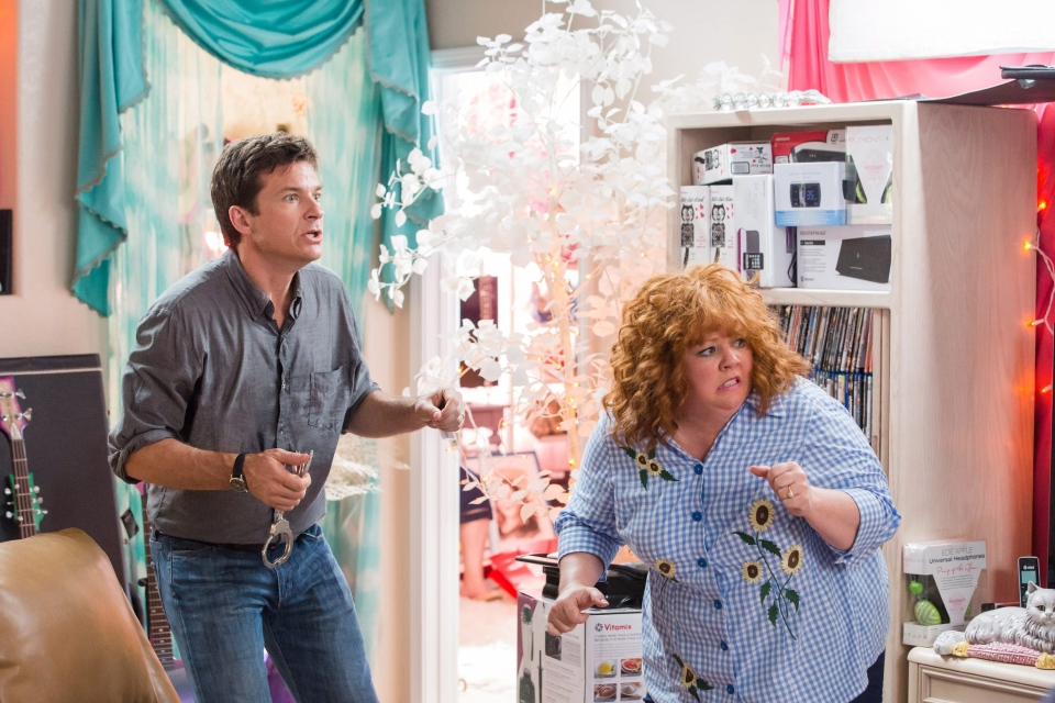 Jason Bateman, left, and Melissa McCarthy in a scene from Universal Pictures Canada's 'Identity Thief.'