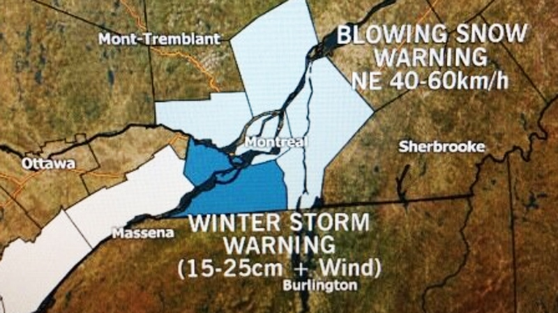 East coast weather forecast maps were littered with dramatic winter warnings Friday.