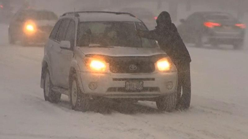 Snow storm Ontario Quebec