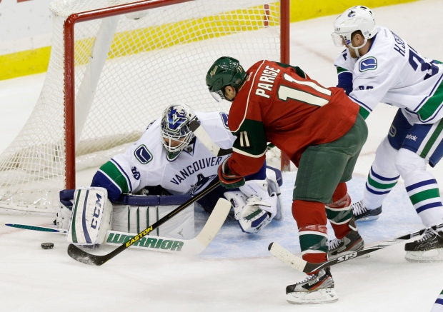 Canucks and Wild in action on Feb. 7, 2013.