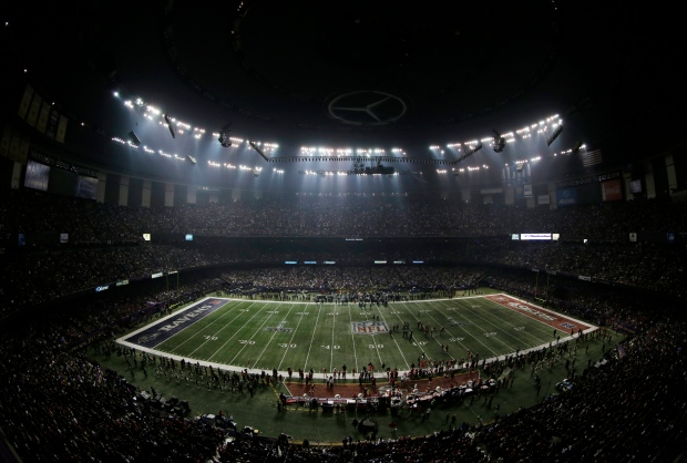 Super Bowl Superdome power outage New Orleans