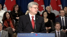 PM Harper justice announcement
