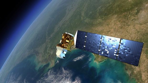 Landsat satellite in orbit