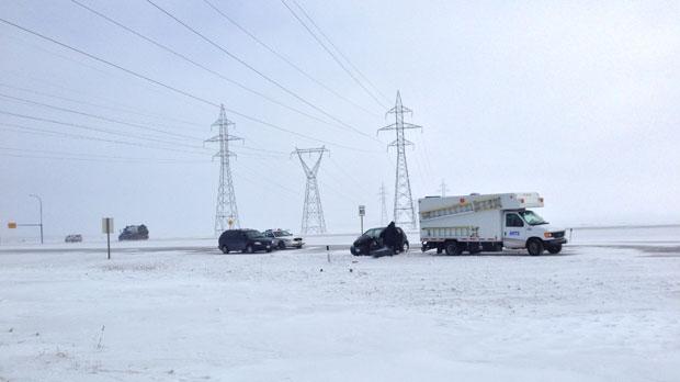 A crash on the north Perimeter